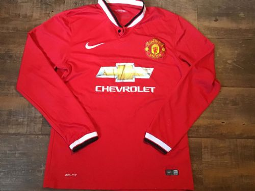 2014 2015 Manchester United L/s Home Football Shirt Medium